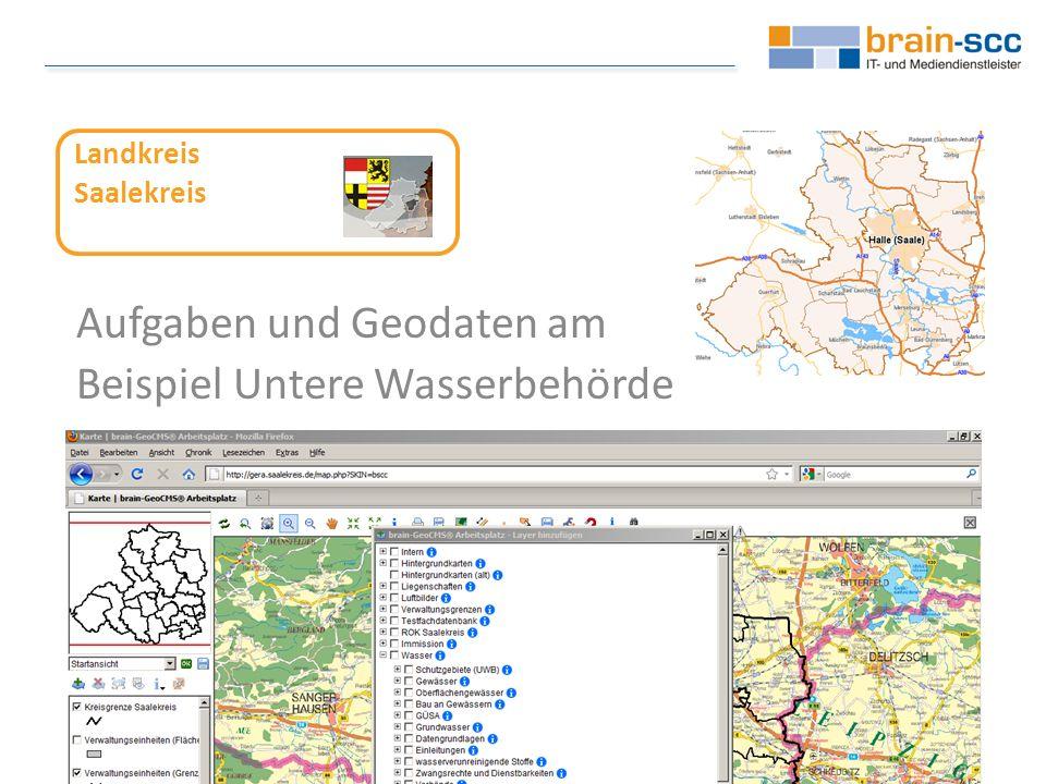 Jede teilnehmende Organisation kann eigene Daten importieren: GPS => FachGIS => Import => Geofachdatenserver brain-SCC GmbH - Fritz-Haber-Straße 9 - 06217 Merseburg T 03461 2599 510 - F 03461 2599 511 E info@brain-scc.de - W www.brain-scc.de