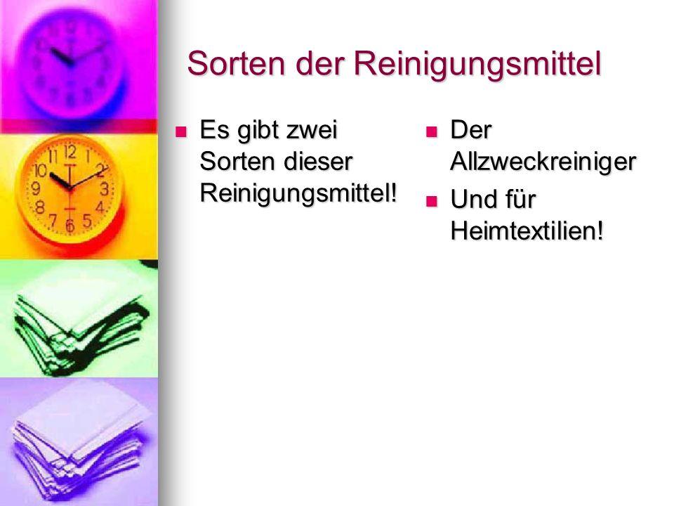 Kosten des Reinigungsmittels Der Allzweck- Der Allzweck- reiniger:1 liter24,20€ Für Heimtextilien:2 liter32,50€ Für Heimtextilien:2 liter32,50€ 1 liter26,50€