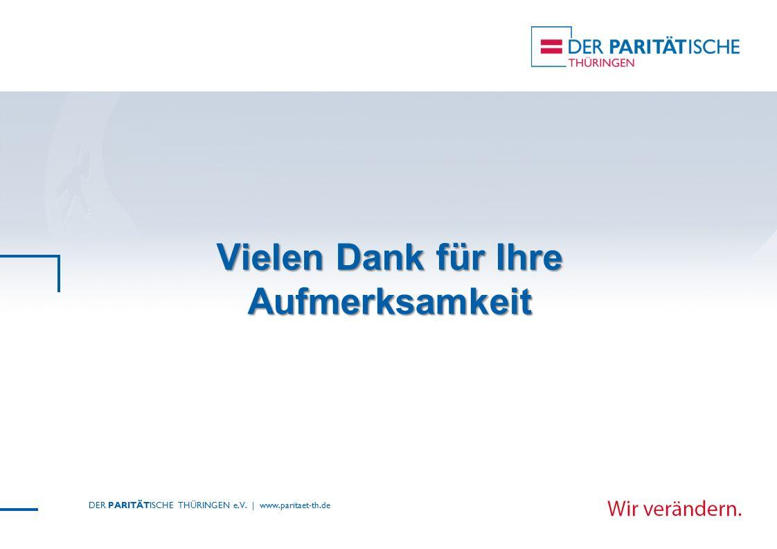 Vielen Dank für Ihre Aufmerksamkeit DER PARITÄTISCHE THÜRINGEN e.V. | www.paritaet-th.de