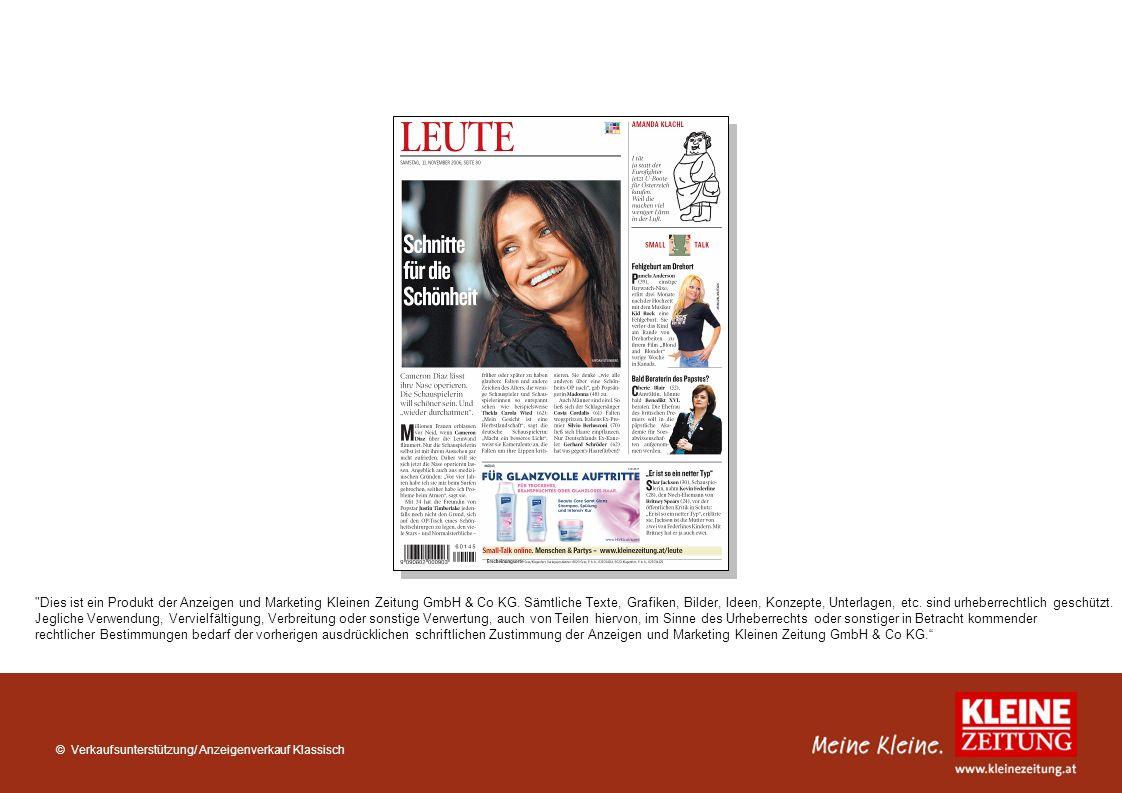 Dies ist ein Produkt der Anzeigen und Marketing Kleinen Zeitung GmbH & Co KG.