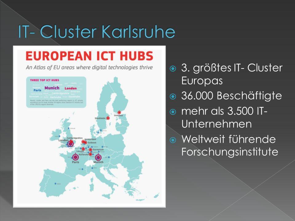  3. größtes IT- Cluster Europas  36.000 Beschäftigte  mehr als 3.500 IT- Unternehmen  Weltweit führende Forschungsinstitute