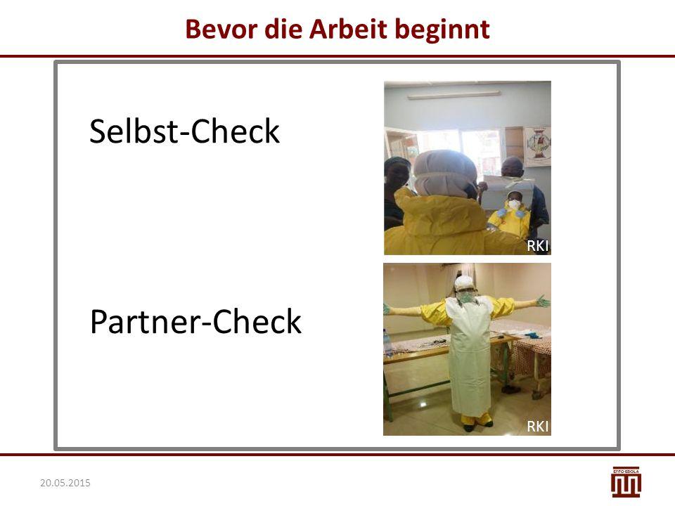 Bevor die Arbeit beginnt Partner-Check Selbst-Check RKI 20.05.2015