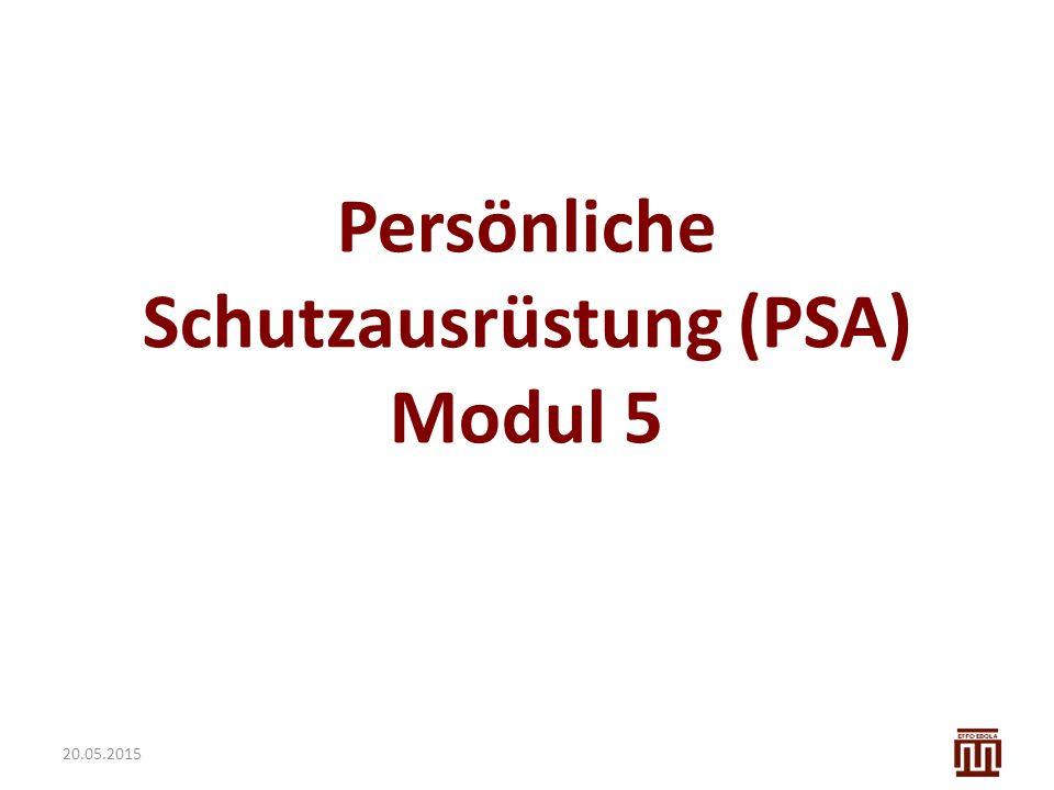 Persönliche Schutzausrüstung (PSA) Modul 5 20.05.2015