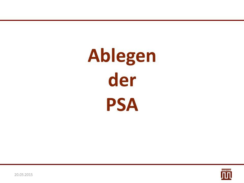 Ablegen der PSA 20.05.2015
