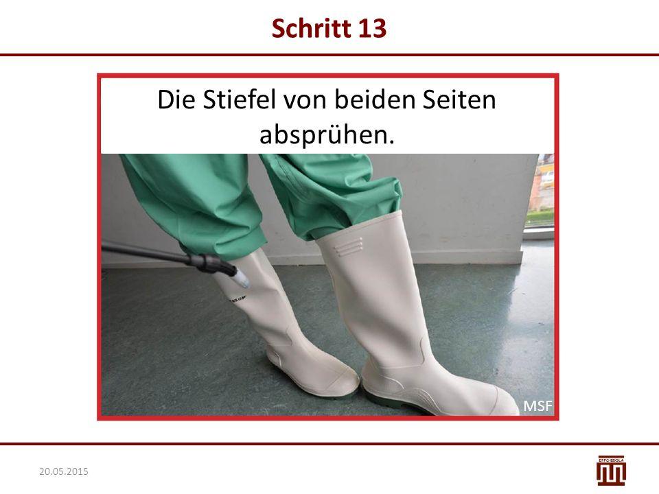 Schritt 13 Die Stiefel von beiden Seiten absprühen. MSF 20.05.2015