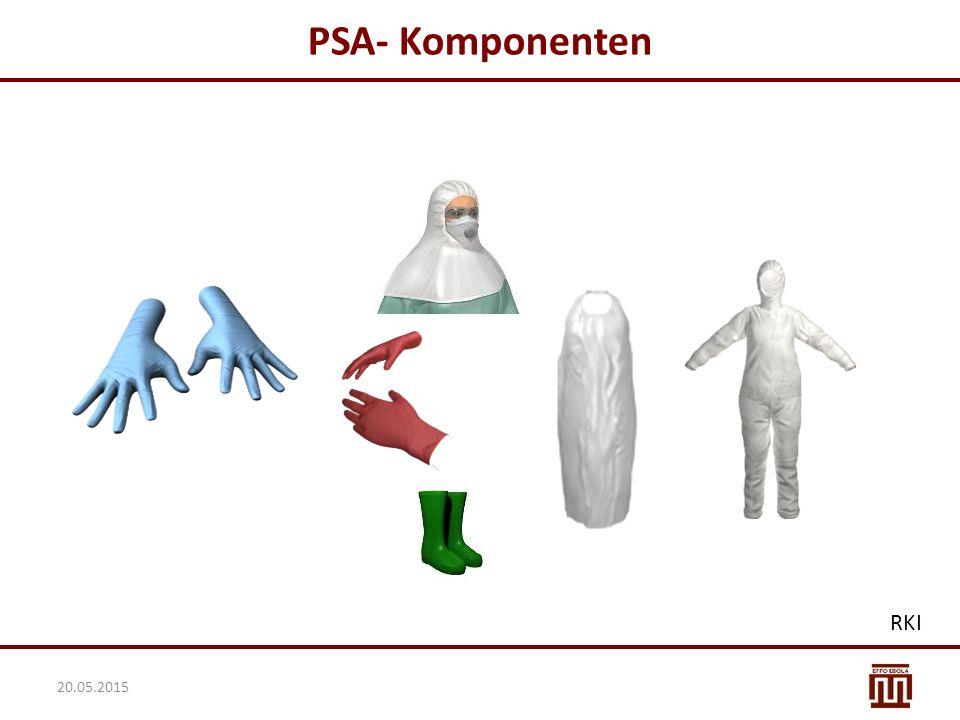 Lagerung der PSA Die PSA immer in Originalverpackung aufbewahren Nicht direkt auf dem Boden lagern Trocken lagern Üblicher empfohlene Temperaturbereich für die Lagerung: -10°C bis + 40°C Hinweise auf der Verpackung beachten 20.05.2015