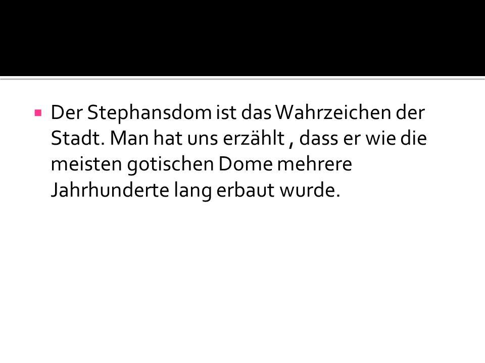  Der Stephansdom ist das Wahrzeichen der Stadt.