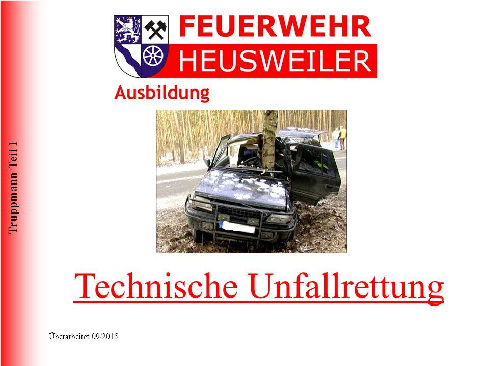 Truppmann Teil 1 Überarbeitet 09/2015 Technische Unfallrettung