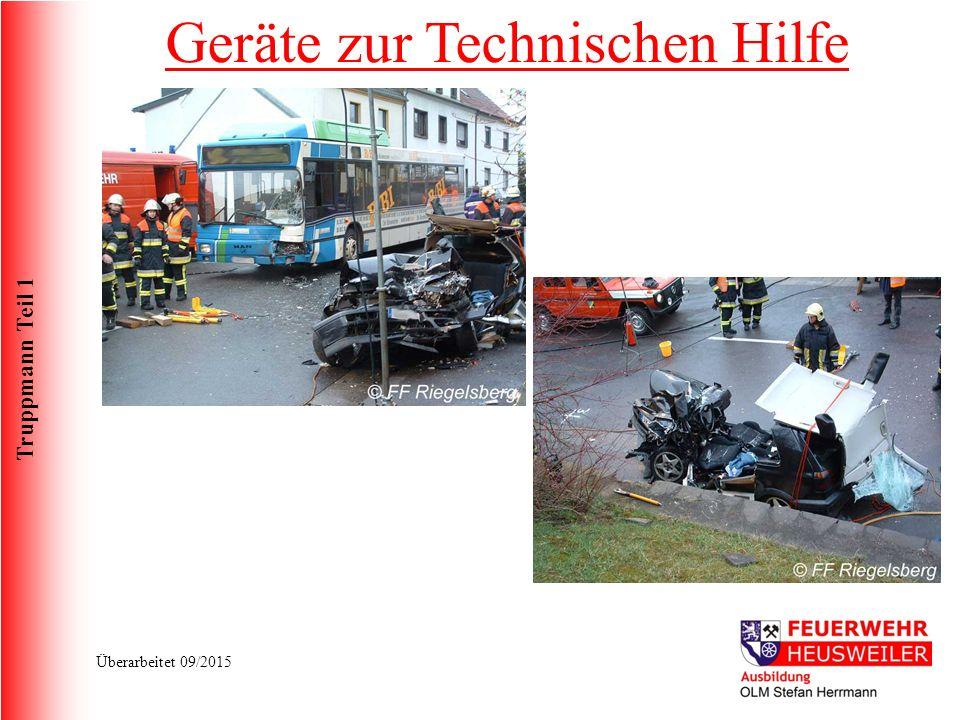 Truppmann Teil 1 Überarbeitet 09/2015 Geräte zur Technischen Hilfe