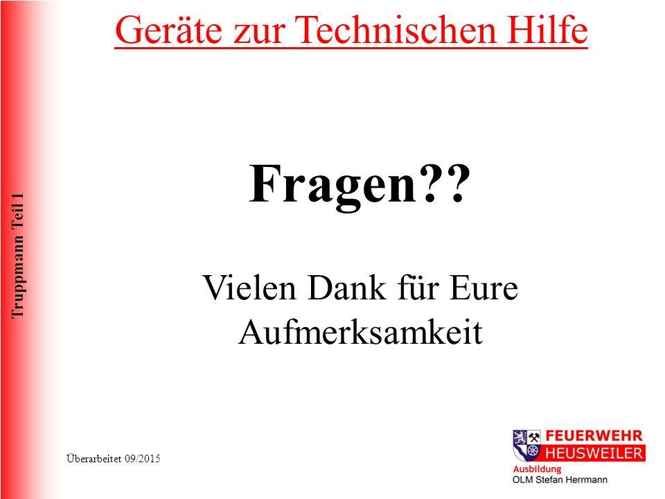 Truppmann Teil 1 Überarbeitet 09/2015 Fragen?.
