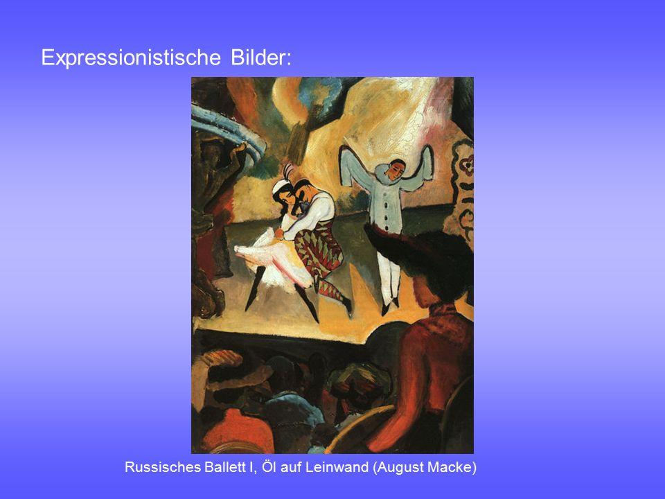 Expressionistische Bilder: Russisches Ballett I, Öl auf Leinwand (August Macke)