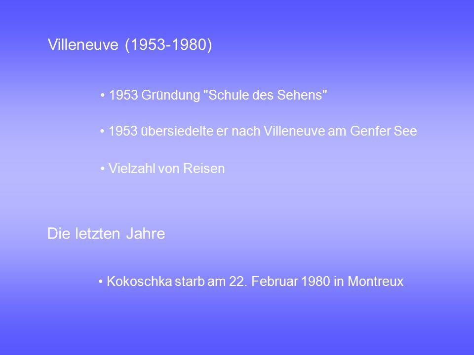 Die letzten Jahre 1953 Gründung