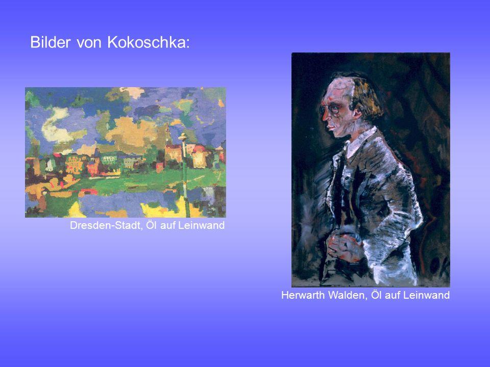 Bilder von Kokoschka: Dresden-Stadt, Öl auf Leinwand Herwarth Walden, Öl auf Leinwand