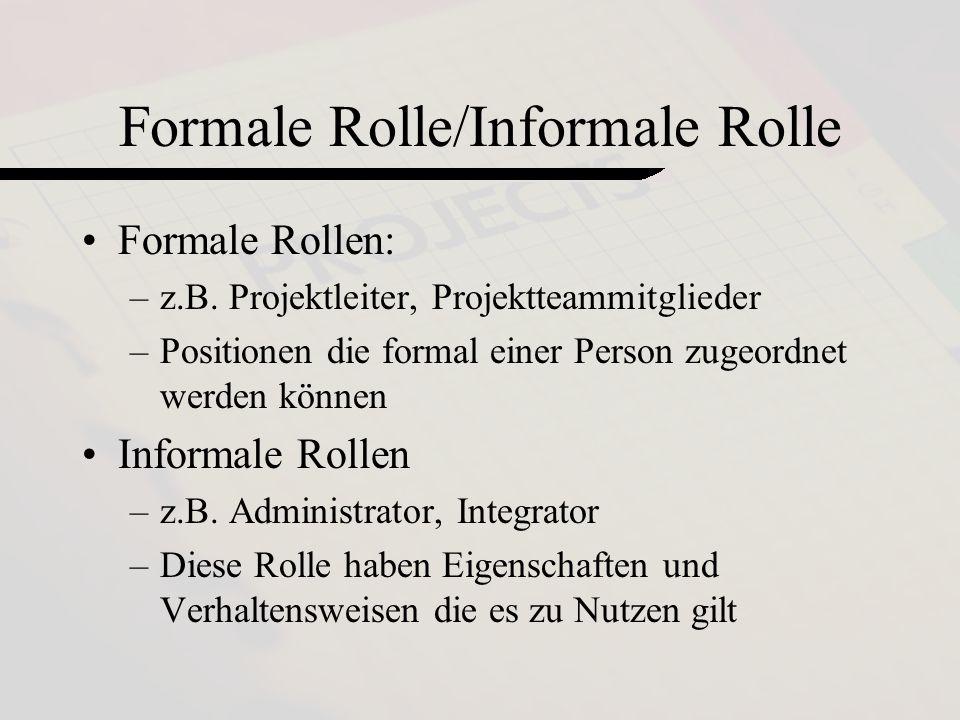 by Loss Maier Mennel5 Formale Rolle/Informale Rolle Formale Rollen: –z.B.