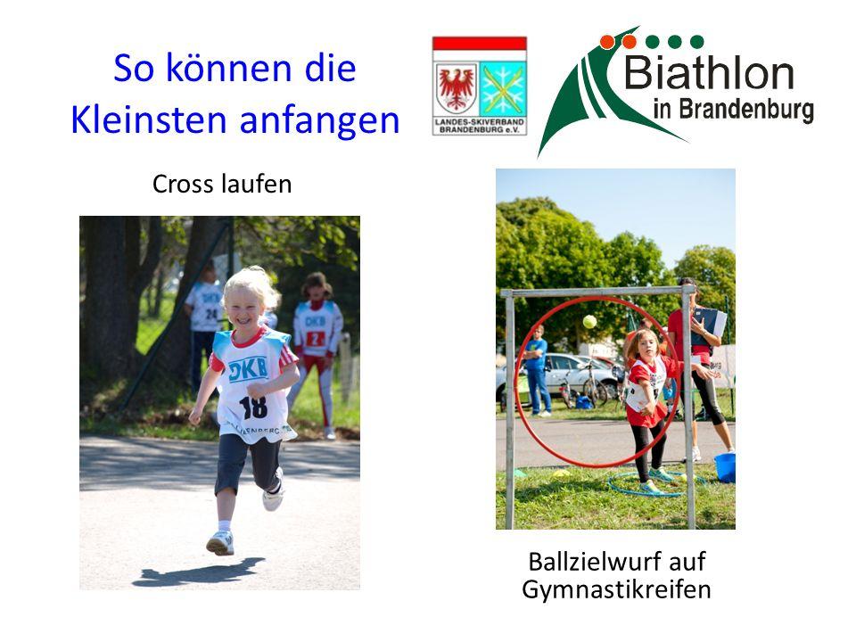 Schulen können starten Ballzielwurf für die Schüleraltersklassen auf 5er-Klappscheiben Biathlon-Laserschiessen für 9-11 Jährige