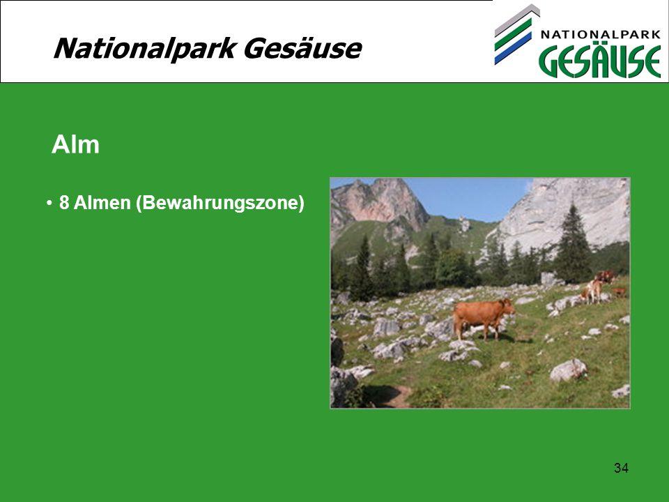 34 Nationalpark Gesäuse Alm 8 Almen (Bewahrungszone)