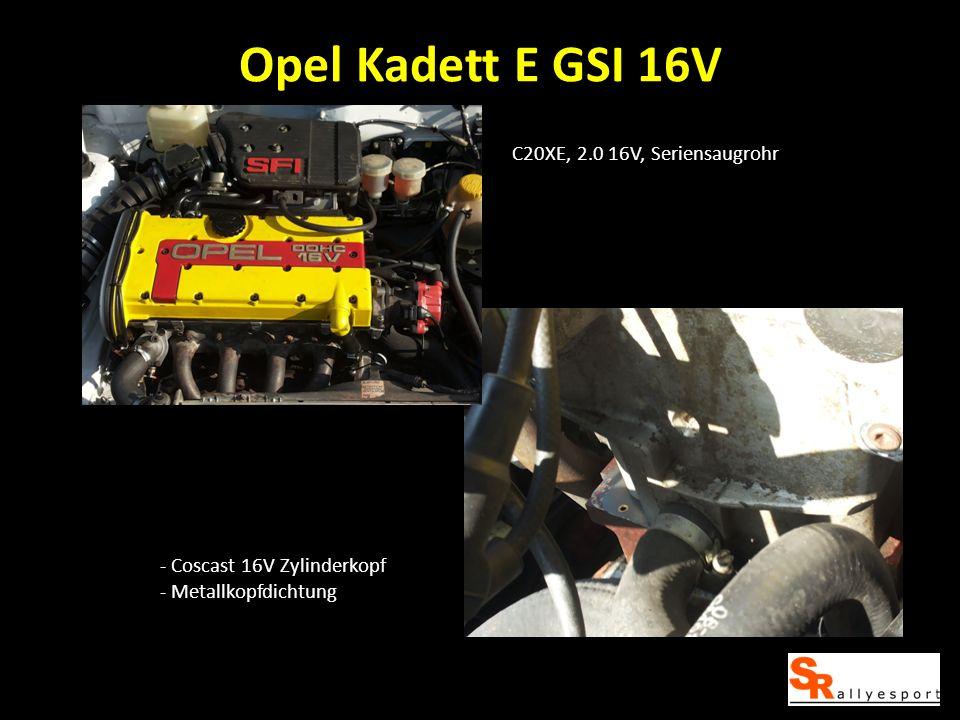 C20XE, 2.0 16V, Seriensaugrohr - Coscast 16V Zylinderkopf - Metallkopfdichtung