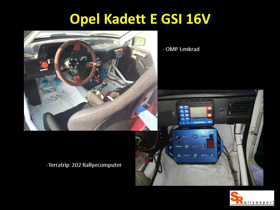 Opel Kadett E GSI 16V -Terratrip 202 Rallyecomputer - OMP Lenkrad