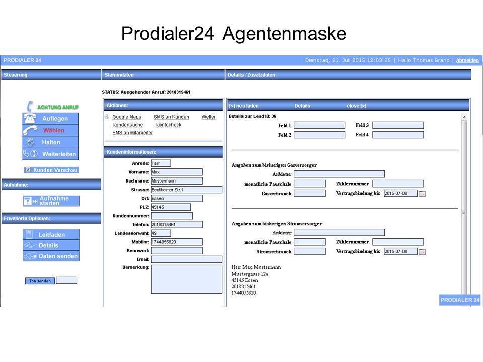 Prodialer24 Agentenmaske