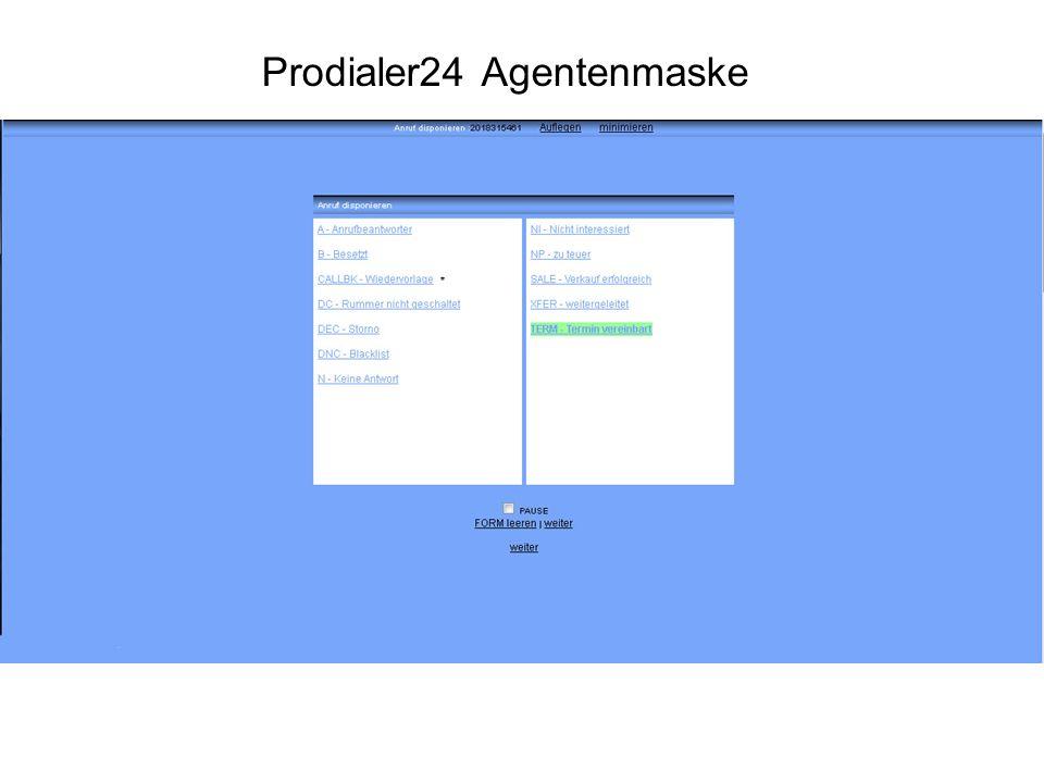 Die Agentenmaske ist einfach zu bedienen.Alle Zusatzfunktionen sind mit wenigen Klicks erreichbar.