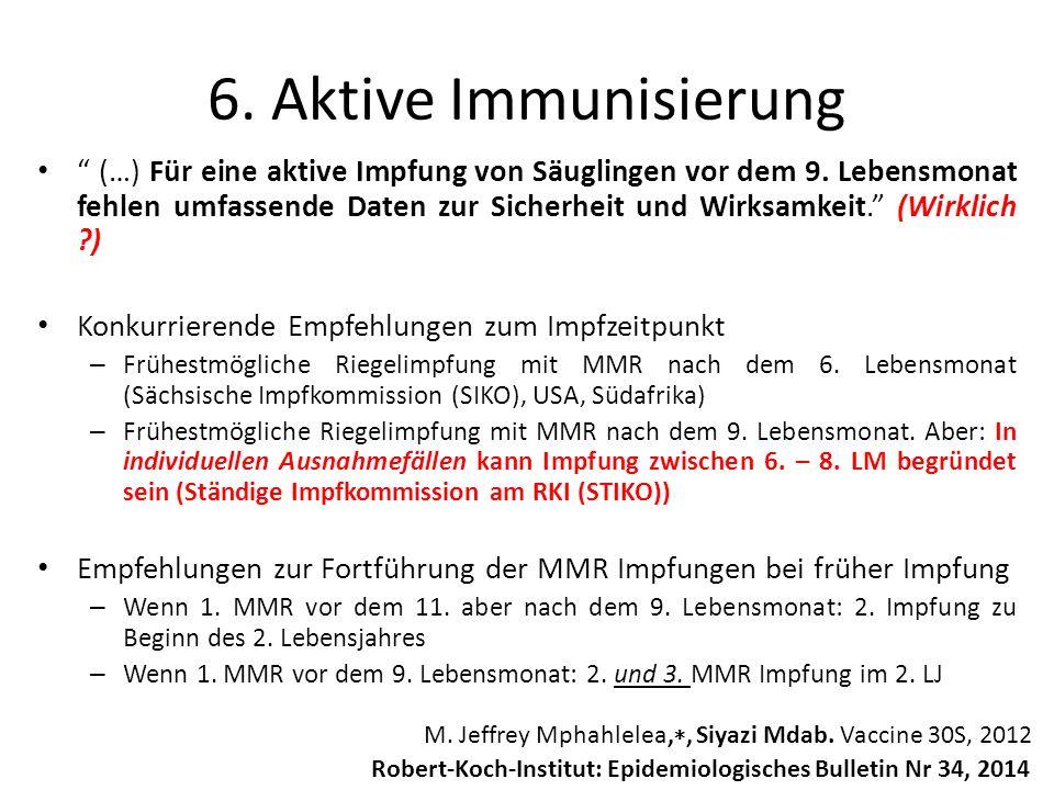 """"""" (…) Für eine aktive Impfung von Säuglingen vor dem 9. Lebensmonat fehlen umfassende Daten zur Sicherheit und Wirksamkeit."""" (Wirklich ?) Konkurrieren"""