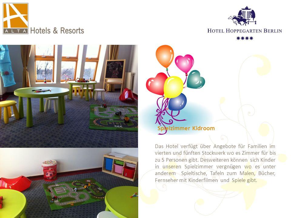 Spielzimmer Kidroom Das Hotel verfügt über Angebote für Familien im vierten und fünften Stockwerk wo es Zimmer für bis zu 5 Personen gibt. Desweiteren