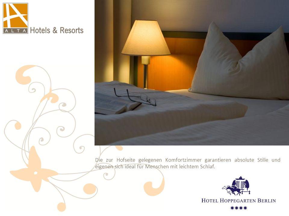 Die zur Hofseite gelegenen Komfortzimmer garantieren absolute Stille und eigenen sich ideal für Menschen mit leichtem Schlaf.