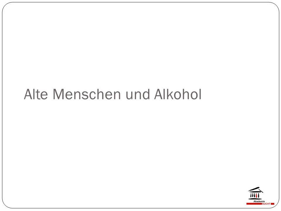 Alte Menschen und Alkohol