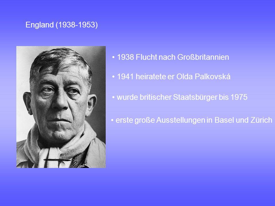 Die letzten Jahre 1953 Gründung Schule des Sehens 1953 übersiedelte er nach Villeneuve am Genfer See Vielzahl von Reisen Villeneuve (1953-1980) Kokoschka starb am 22.