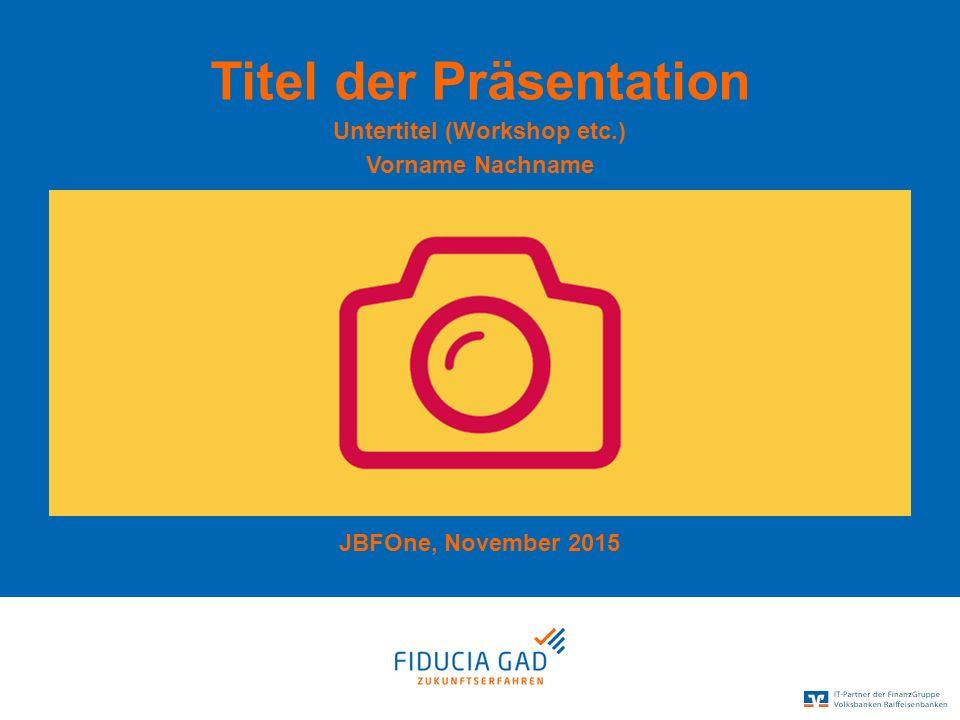 © Fiducia & GAD IT AG Kombilogo Und sogar noch Platz für einen Untertitel.