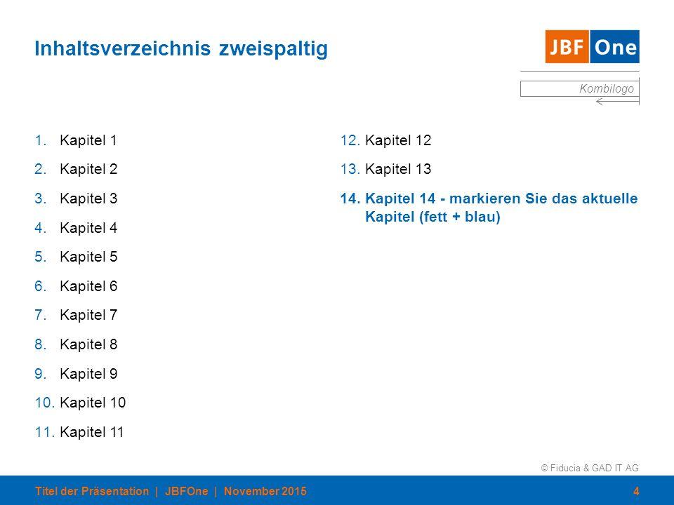 © Fiducia & GAD IT AG Kombilogo Inhaltsverzeichnis mit Referent und Zeit ThemaReferentZeit 1.Thema 1Hr.