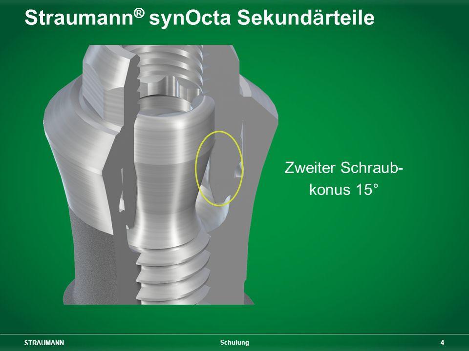 STRAUMANN 4 Schulung Straumann ® synOcta Sekundärteile Zweiter Schraub- konus 15°