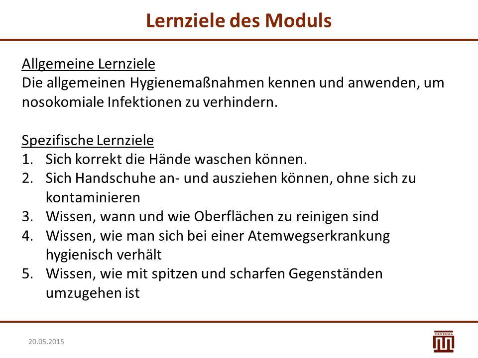 20.05.2015 Diskussion über korrektes Verhalten Wie vermeide ich Ansteckung.