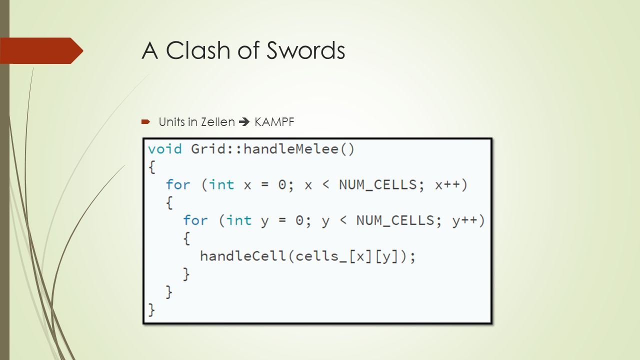 A Clash of Swords  Units in Zellen  KAMPF