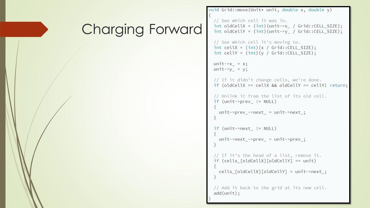 Charging Forward