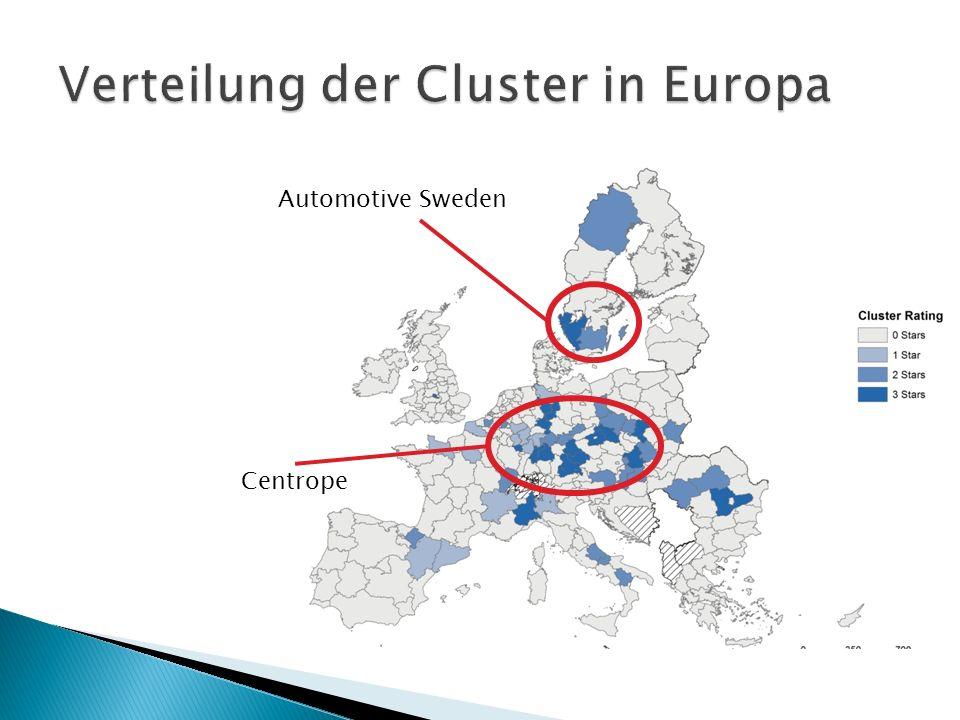 1. Verteilung der Cluster in Europa 2. Automotive Sweden 3. Centrope 1.BMW AG 2.Daimler AG 3.Volkswagen AG 1.Marken 2.Zahlen, Daten, Fakten 4. Cluster