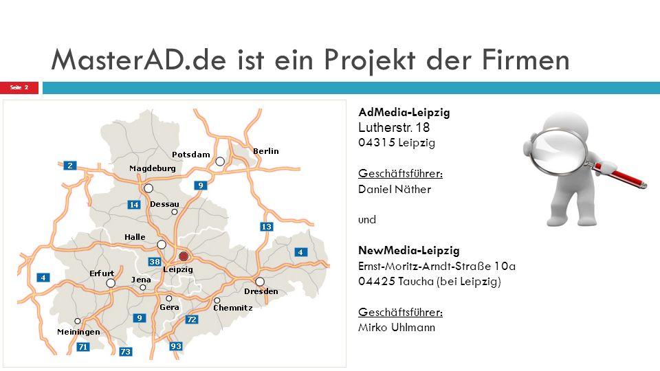 MasterAD.de ist ein Projekt der Firmen AdMedia-Leipzig Lutherstr.