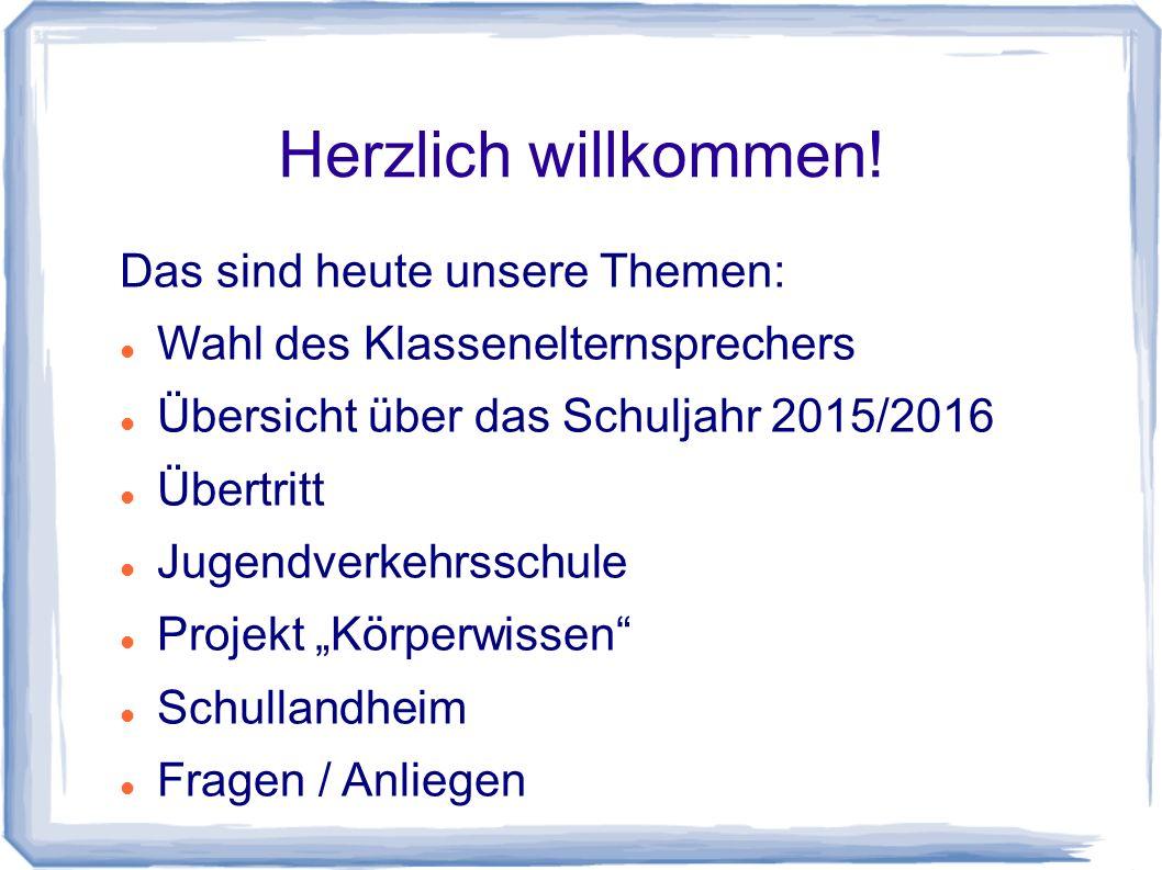 Schullandheim Termin: 6.- 10.
