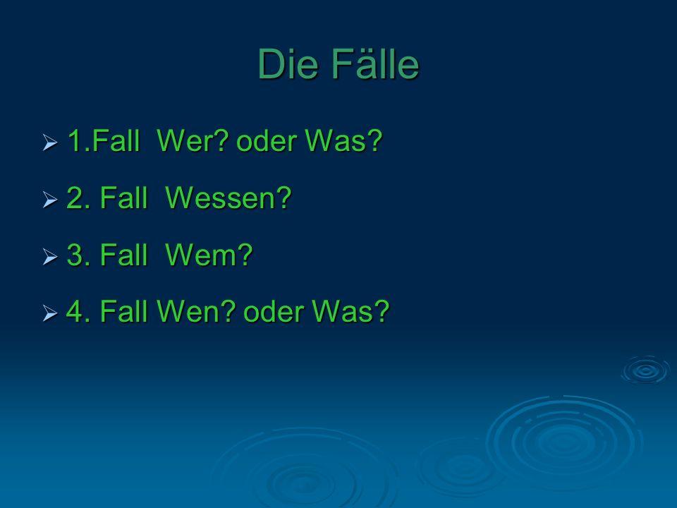 Die lateinischen Namen der Fälle DeutschLatein 1.FallNominativ 2.