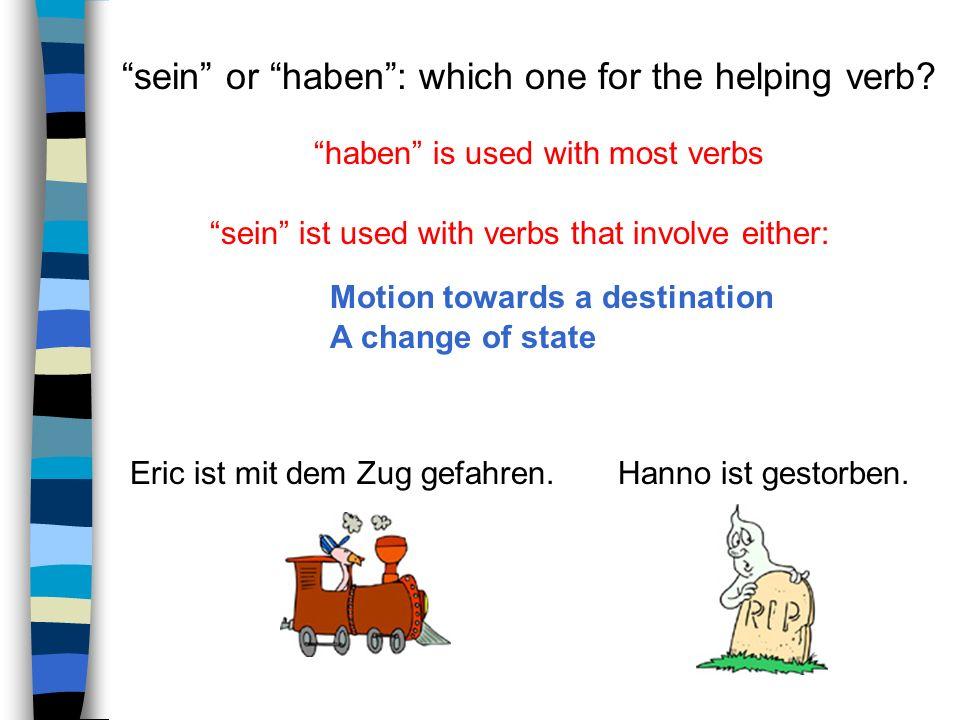 helping verba participle (Partizip) helping verbPartizip