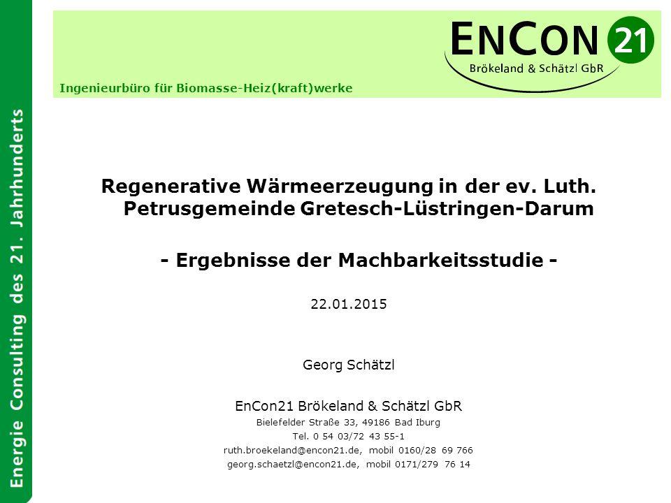 Regenerative Wärmeerzeugung in der ev. Luth.
