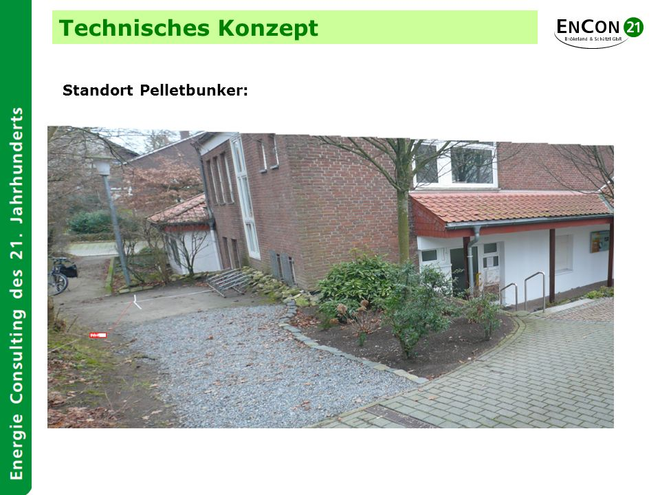 Technisches Konzept Standort Pelletbunker: