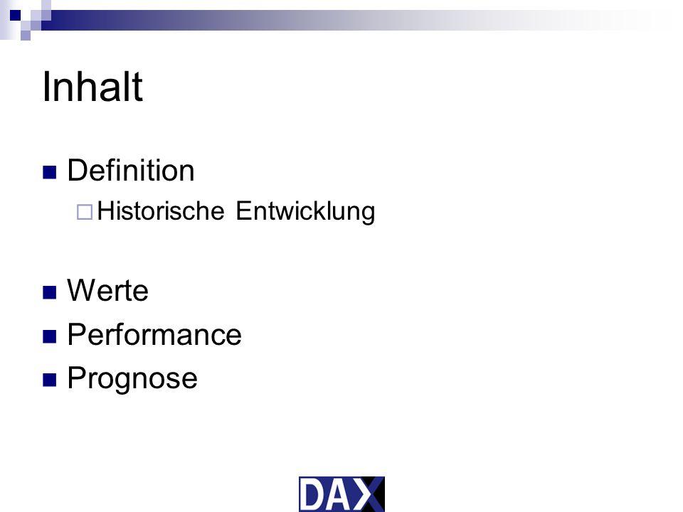 DAX 30 Deutscher Aktienindex