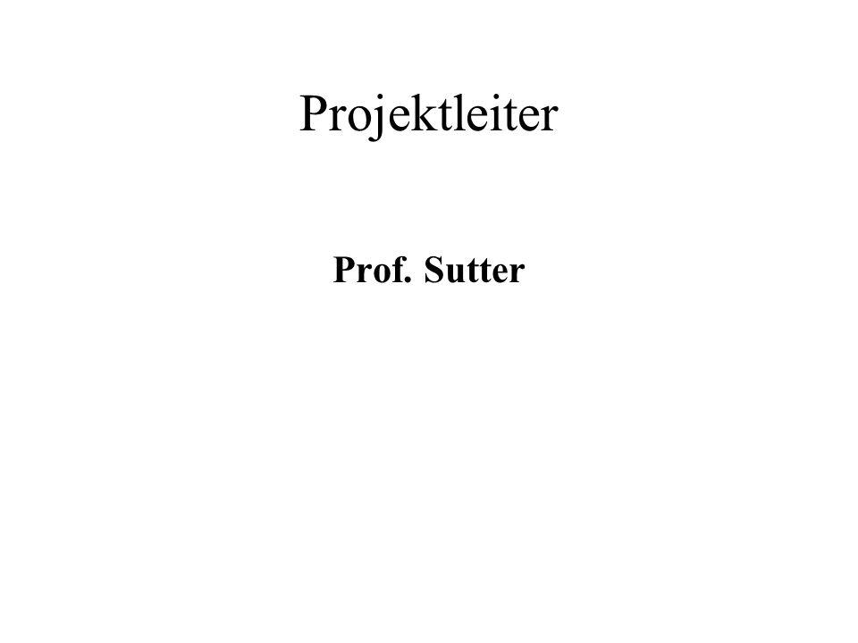 Projektleiter Prof. Sutter