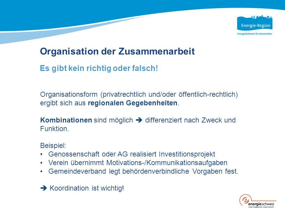 Organisation der Zusammenarbeit Es gibt kein richtig oder falsch.