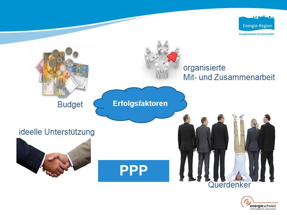 Querdenker Erfolgsfaktoren organisierte Mit- und Zusammenarbeit Budget ideelle Unterstützung PPP