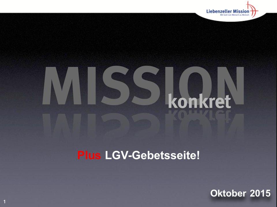 1 Oktober 2015 Plus LGV-Gebetsseite!