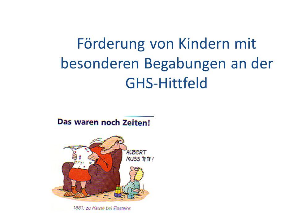 Förderung von Kindern mit besonderen Begabungen an der GHS-Hittfeld