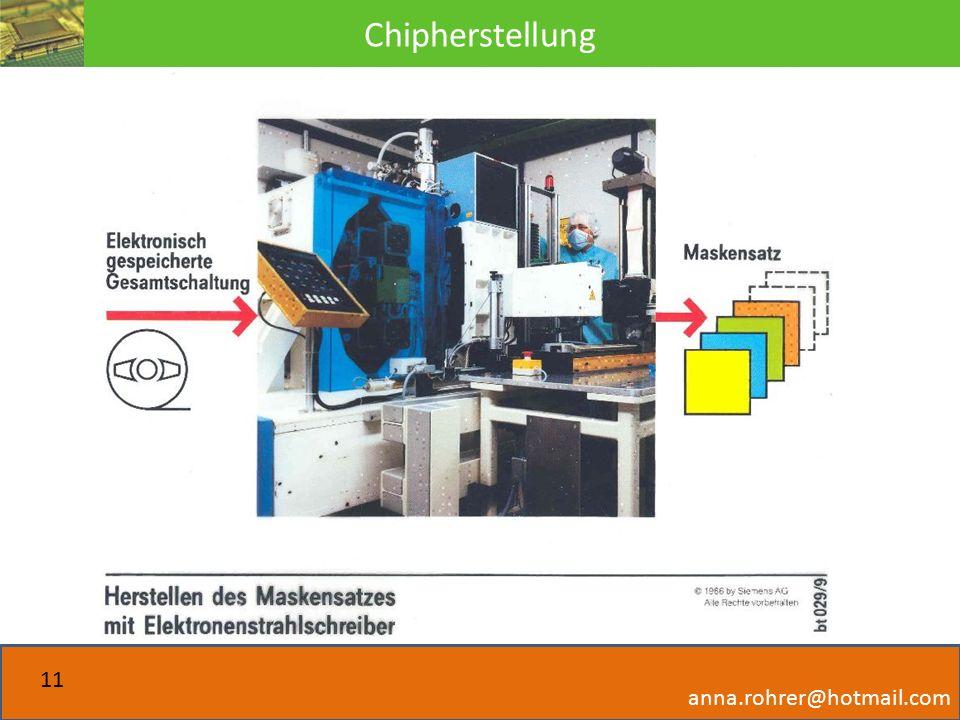 Chipherstellung anna.rohrer@hotmail.com 11