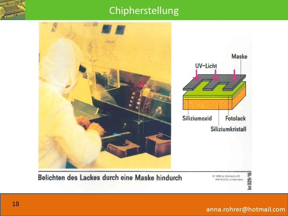 Chipherstellung anna.rohrer@hotmail.com 18
